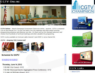 Image of CGTV Online web page