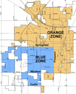 Map of Champaign